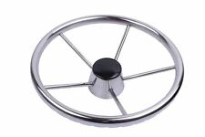 "Stainless Steel 11"" Steering Wheel  5 Spokes for Marine Boat Yacht Polished"