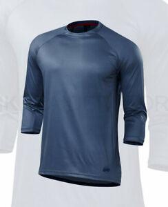 Specialized Men's Enduro Comp 3/4 Jersey Dusty Blue / Primal Geo - Medium