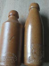 Vintage ginger beer bottles x2