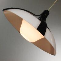 alte Temde Zug Pendel Lampe Schwarz Weiß 50er 60er Jahre vintage Hänge Leuchte