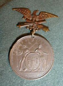 GAR ribbon medal badge Encampment 1885 Fairmount Park Philda
