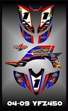 Yamaha YFZ 450 04-09  SEMI CUSTOM GRAPHICS KIT Krock2