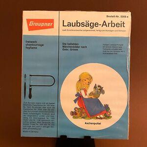 🎁 1970er Laubsäge-Arbeit Vorlage: Felicitas Kuhn Aschenputtel 20cm OVP Graupner
