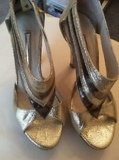 Gold/Metalic STRUTT COUTURE Heels Size 5