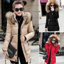 Winter Women Warm Jacket Long Down Jacket Padded Coat Ladies Slim Hooded Parka