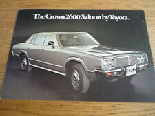 TOYOTA CROWN 2600 SALES BROCHURE LATE 70's  jm