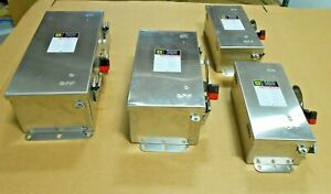 LOT OF 4 NEW SQUARE D STAINLESS STEEL HEAVY DUTY SAFETY SWITCH HU363DS HU362DS