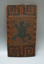 South American Guyana Wai Wai Carved Wooden Painted Cassava Grating Board Amazon