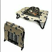 Portable Fold-A-Way Pet Cot with mesh insert