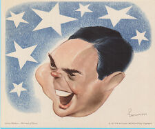 James Melton Harvest of Stars 1947 Vintage NBC Radio Show Caricature Print