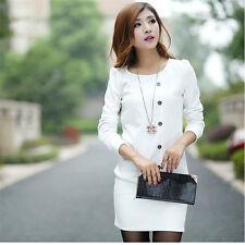 Fashion Dress 2017 Women's Beauty M White Cotton Blend Soft cocktail business