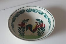 ANCIEN RAMEQUIN - BOL A SAVON DESSIN DE COQ - OLD RAMEQUIN SOAP BOWL DRAWING COQ