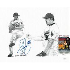 Eric Gagne Signed L.A. Dodgers 11x14 Print Frank Nareau Artwork JSA Autograph