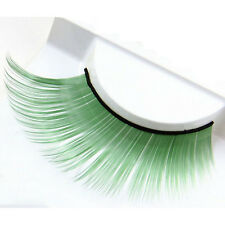 Handmade Extension Purple Thick Plus Long False Eyelashes Eye Lashes Colorful Green
