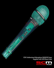 SQ335GR CPK UNIDIRECTIONAL MICROPHONE GREEN XLR to JACK MIC LEAD INC BRAND NEW