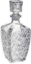 Vintage Whiskey Decanter Crystal Glass Liquor Bottle Wine Stopper Scotch Bar New