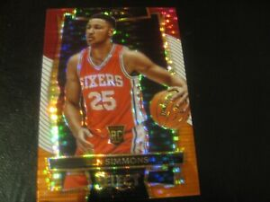 2016-17 Select Ben Simmons Prizm Rookie Refractor Red White Orange Tri-CoIorNICE