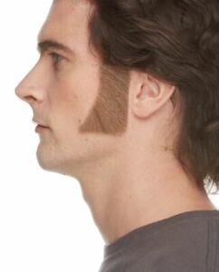 HUMAN HAIR COSTUME SIDEBURNS MUTTON CHOPS BIKER GREASE DICKENS LOGAN WOLVERINE