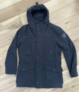 Men's Napapijri Geographic Parka Winter Coat Jacket Size Medium Black