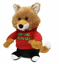 """Cuddle Barn Animated Plush Toy Fox Jr. Sings """"What Does the Fox Say"""" ZCB7427"""