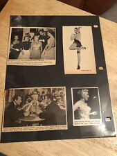 BETTY GRABLE  -  Vintage Original Page Clippings -  (2-sided)