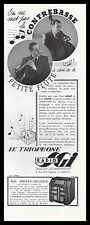 Publicité TSF Poste Radio TRIOPHONE SGI   photo vintage print ad  1930 - 2 h