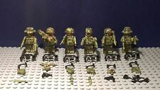 Modern Army Soldiers, 6 Figures, SAS, Military Police,set two fits with Lego