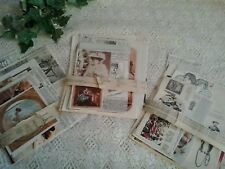 Vintage paper pages from old books Victorian Edwardian 1800s theme for art craft