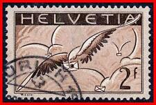 SWITZERLAND 1930 AIRMAILS SC#C15 used CV$85.00  (EB5)