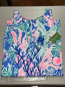 Lilly Pulitzer Women's Kristen Dress Multi Jet Stream Size XL