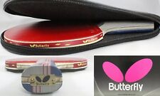Racket Table Tennis Ping Pong Paddles Butterfly Bat Handle and Pro Case Holder