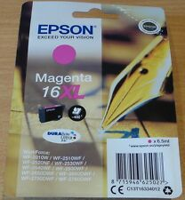 GENUINE EPSON 16XL Magenta cartridge T1633 ORIGINAL Pen & Crossword vac seal ink