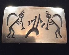 Vintage Sterling Silver Hopi Belt Buckle By Bradley Gashwazra. Hopi Craft