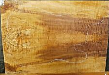 Spalted Curly Maple 9673 Luthier 5A Electric Guitar Top WOOD 23 x 16 x .500