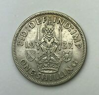Dated : 1937 - Silver Coin - One Shilling - King George VI - Great Britain