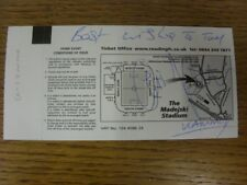 08/01/2011 Autographed Ticket: Reading v West Bromwich Albion [FA Cup] - Autogra