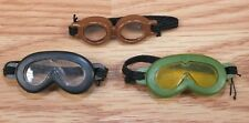 *Lot of 3* Unbranded Black Brown & Green Action Figure Toy Goggles / Eye Wear!