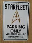 Starfleet Parking Metal Sign