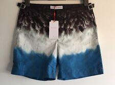 ORLEBAR BROWN BULLDOG BRDS PARADIS BLUE MASK PARROT swim shorts W30 RRP £230