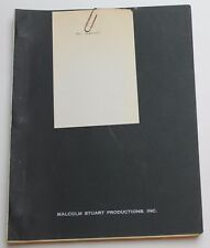 MASTERMIND / Ian McLellan Hunter 1969 Screenplay, Bradford Dillman, Thriller