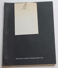 Mastermind * 1976 Original Movie Script Screenplay * Bradford Dillman, Thriller