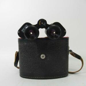USSR БПЦ4 8x30M Binoculars Vintage Soviet Black Antique & Hard Case Untested
