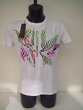Roberto Cavalli  t-shirt  bianca  con pappagallo  TG  48