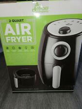 BRAND NEW, UNOPENED Eco+Chef 2 Quart Air Fryer  Black/Silver