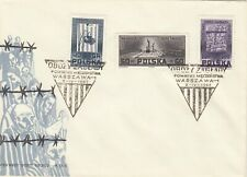 Poland FDC 1962 WWII Death Camp Monuments Combo