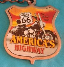 Route 66 Americas Highway the Mother Road Copper Color Metal Key Chain