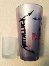 METALLICA LIMITED EDITION BINGE & PURGE ETCHED PINT SHOT GLASS SET METCLUB 2013