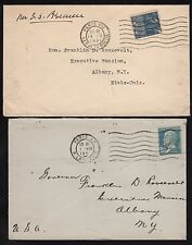 FRANCE (2) DIFF COVERS ADDRESSED TO GOV. F.D. ROOSEVELT EX-FDR COLLECTION BR8461