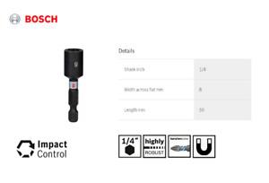 "Bosch 8mm Magnetic Nut Runner Bolt Setter Driver 50mm Impact Control Hex 1/4"""
