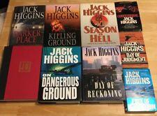 Lot of 9 Jack Higgins Books 6 Hardcover & 3 Paperbacks